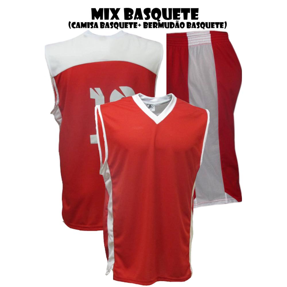 a9645ffeb1 Uniforme de Basquete 12 Camisas e 12 Bermudas - Playgol.com.br