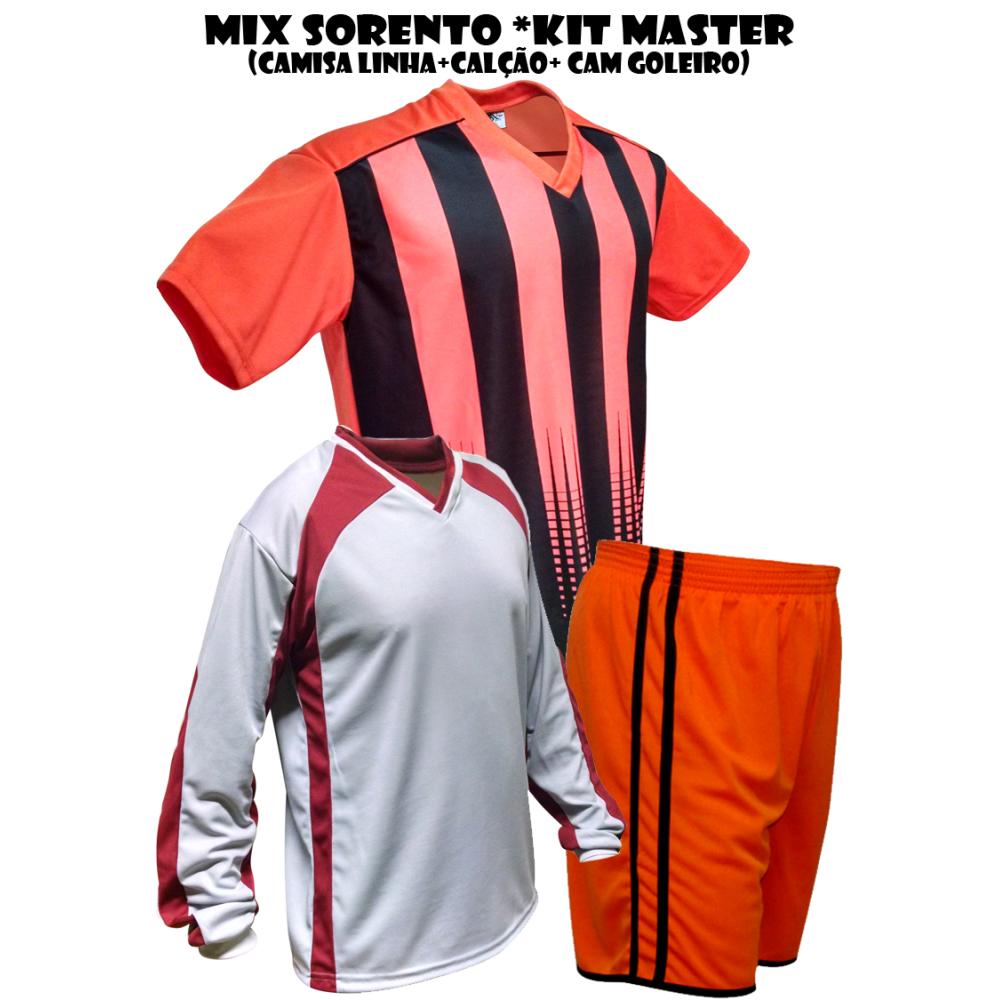 Uniforme Esportivo Sorento Kit Master 2 Camisa de Goleiro + 18 ... 6aa831f383337