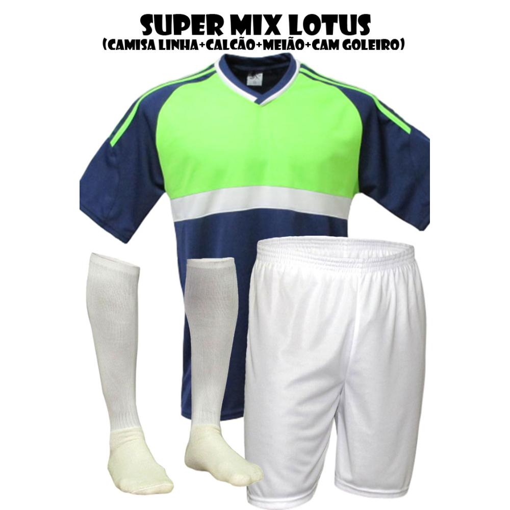 5ba4a1a98 Fardamento Esportivo Lotus 1 Camisa de Goleiro Pop + 10 Camisas +10 Ca... - Kanga  Sport