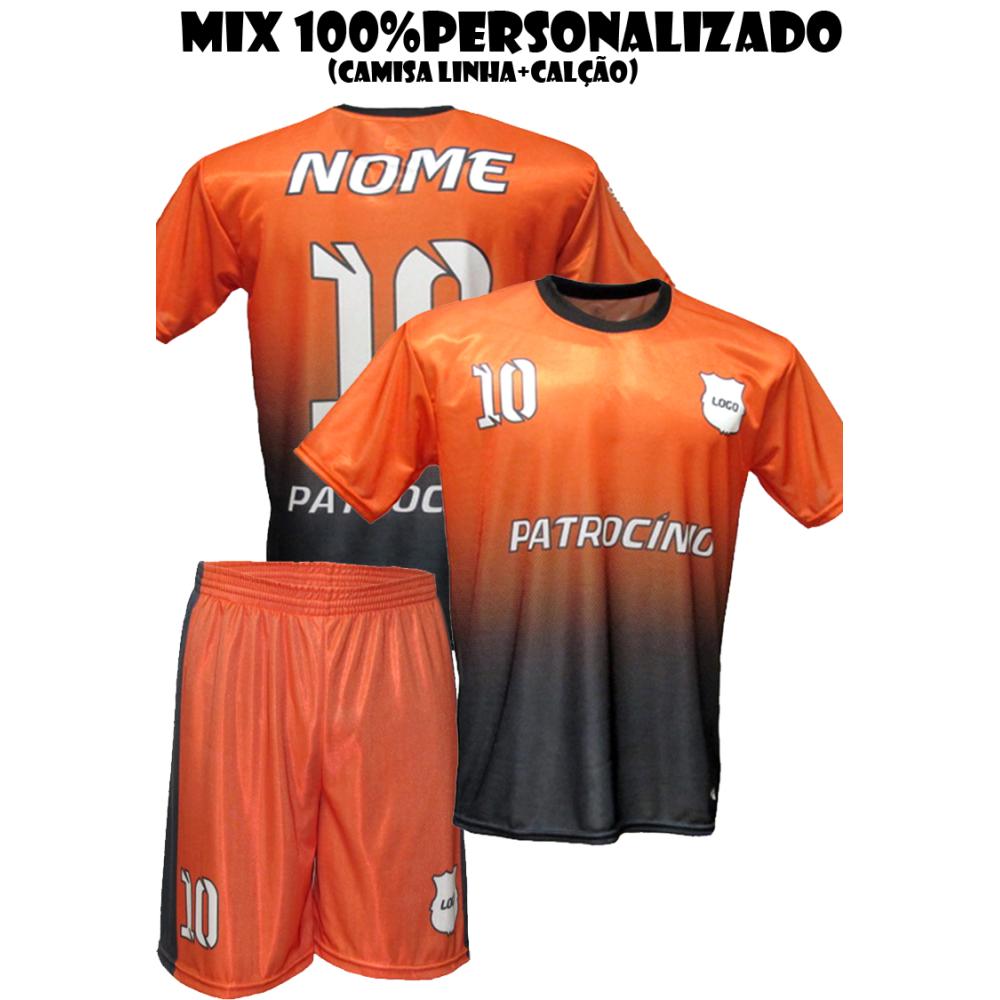 ccca0e8cb9b5e Uniforme Personalizado 10 Camisas + 10 calções - gola careca. undefined