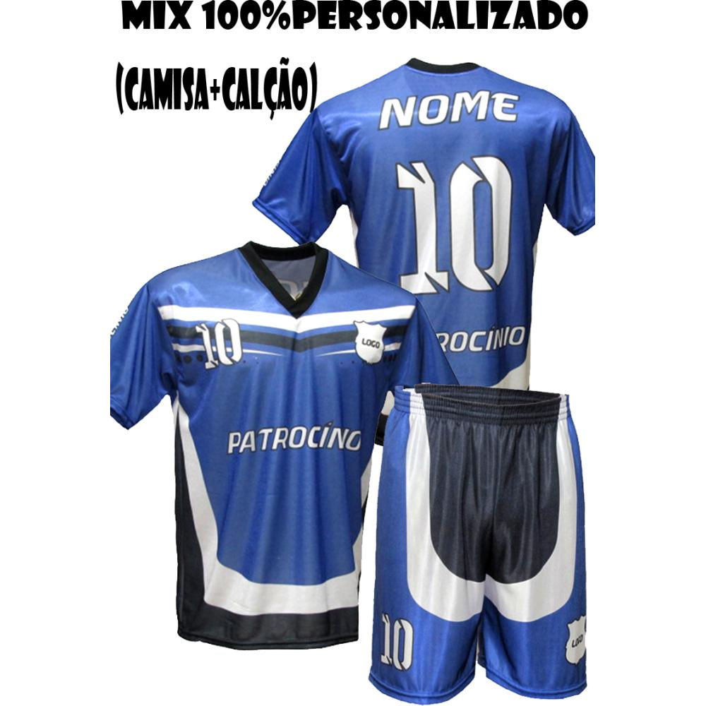 Uniforme Personalizado 18 Camisas + 18 calções - gola v - Playgol.com.br be59aef93d1e3
