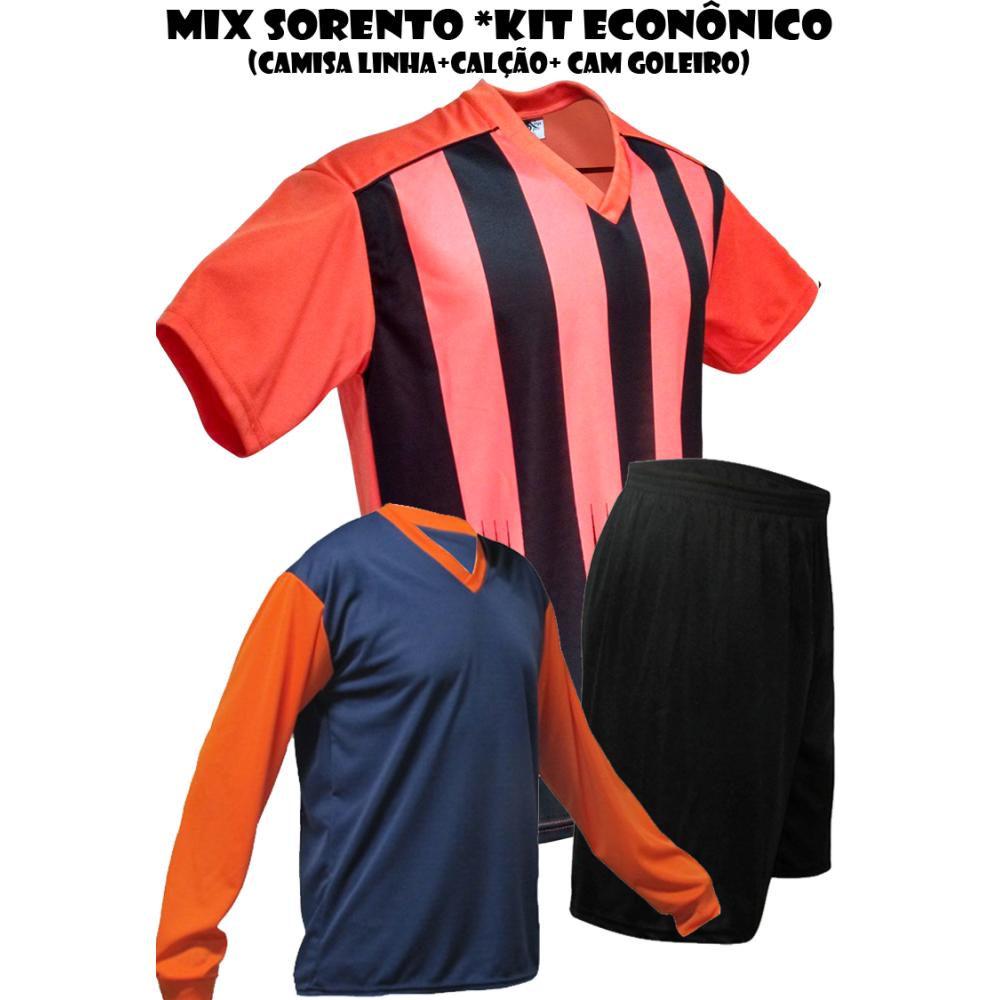 Uniforme Esportivo Sorento Kit Econômico 2 Camisa de Goleiro + 18 ... a4b111e9af4b3