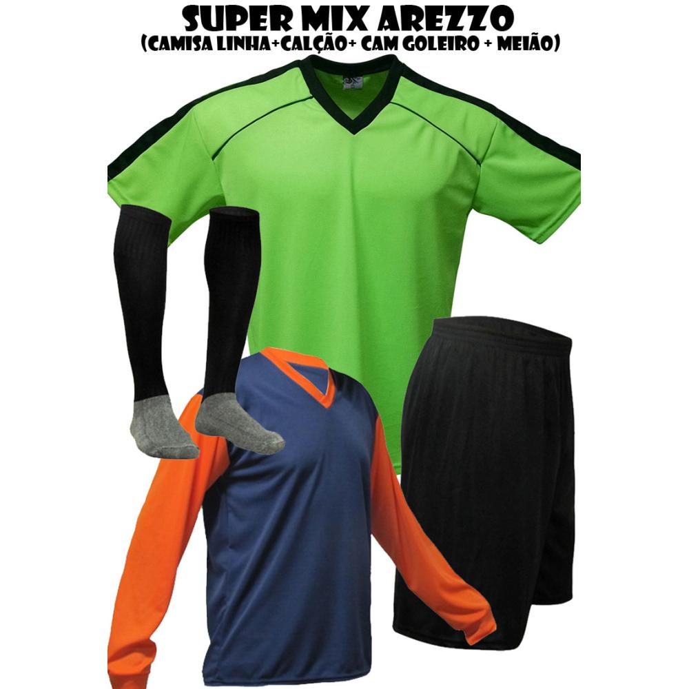 cdbe370768fa6 Fardamento Esportivo Arezzo 2 Cam de Goleiro + 20 Camisas + 20 ...