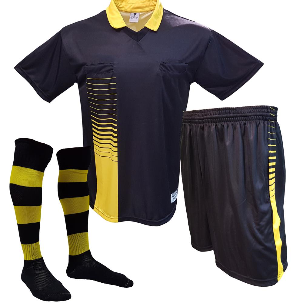 eec076028c Kit para Árbitro - Camisa + Calção + Meião - Playgol.com.br