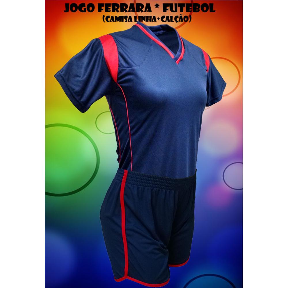 Fardamento Ferrara 10 Camisas + 10 Calções - Playgol.com.br 61345c6f553a9
