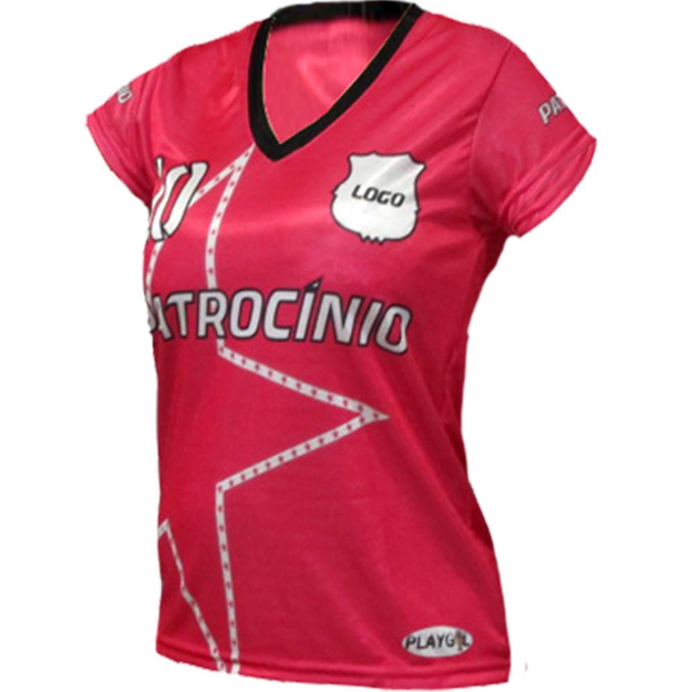 6bfb4b0958 Fardamento Personalizado Feminino 14 camisas - gola v - Playgol.com.br