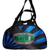 6099ce265de9b Bolsa de Futebol Azul x Preto PlayGol - Bolsa de Viagem Azul x Preto -  PlayGol