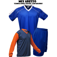 Uniforme Esportivo Arezzo 20 Camisas + 20 Calções - Royal x Branco - G... - Kanga  Sport 93cd97aa4d616