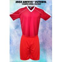 Uniforme Esportivo Arezzo 14 Camisas +14 Calções - Vermelho x Branco - Gi 8868ea28466d3