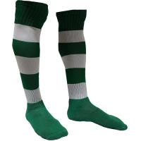 5e656a58d095e Meião Listrado Profissional - Verde x Branco