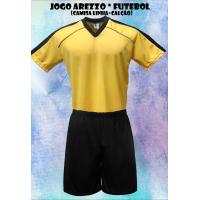 Uniforme Esportivo Arezzo 7 Camisas + 7 Calções - Amarelo x Preto - Gi - Kanga  Sport 87ccd0c91cdac