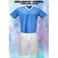 6a7fe7a563 Uniforme Esportivo Arezzo 14 Camisas +14 Calções - Celeste x Branco - ... - Kanga  Sport