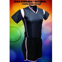 fba2384b24 Fardamento Ferrara 7 Camisas + 7 Calções - Preto x Rosa - GG