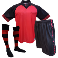 Kit para Árbitro - Camisa + Calção + Meião - Vermelho x Preto - GG 836d9e5699e9f