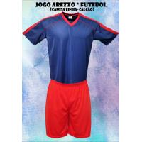 1d2fd450ae Uniforme Esportivo Arezzo 7 Camisas + 7 Calções - Marinho x Vermelho -... - Kanga  Sport