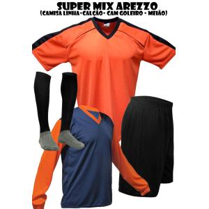 dc6c1d723bc82 Fardamento Esportivo Arezzo 2 Cam de Goleiro + 18 Camisas + 18 ...